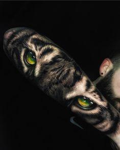 - only best tattoos - . ✉ask in dm😉 Tiger Eyes Tattoo, Tiger Tattoo Sleeve, Lion Head Tattoos, Forarm Tattoos, Body Art Tattoos, Small Tattoos, Girl Tattoos, Sleeve Tattoos, Tattoo Ink