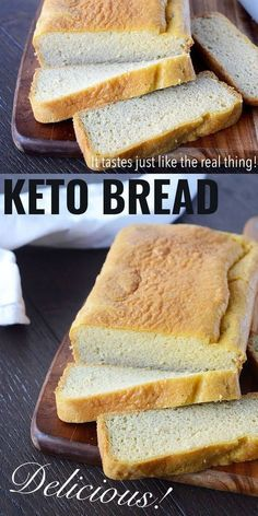 Keto Bread   When you switch to a ketogenic diet, for most people it is very hard to give up carbohydrates such as bread and pasta. This keto bread makes the switch much easier, easily being able to still have sandwiches and toast. I didn't want to release a