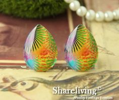 Teardrop Glass Cabs by Shareliving on framestr.com Brooches, Charms, Pendants, Beads, Handmade, Beading, Hand Made, Brooch, Trailers