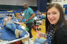Alyssa Eakins makes her 2nd lifetime donation. — at Miami East High School.
