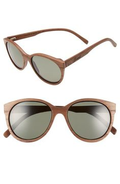 5529a2de0 Shwood 'Madison' 54mm Round Wood Polarized Sunglasses available at  #Nordstrom