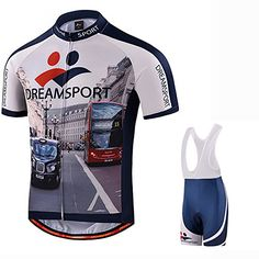 Amazon.com  UOOU Men Cycling Jersey Short Sleeve Jersey Bicycle Jacket  Comfortable Breathable Quick Dry Shirts Tops 3D Cushion Padded Bib Shorts  Pants ... 61e4a60fc