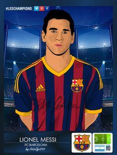 Lionel Messi Vector Art Sticker #LesChampions by ArtsGFX999.deviantart.com on @DeviantArt