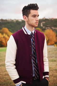 I dont know about you but I think men look so much cuter with the letterman jacket.