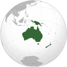 OCEANIA (Geopolitical) - Melanesia, Micronesia, Polynesia, and Australasia James Cook, Tasmania, Perspective Atmosphérique, Bonin Islands, Australia Continent, Philippe Le Bon, Orthographic Projection, Inspiration Artistique, New Zealand