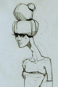 Fashion Sketch - stylish fashion drawing; fashion illustration // Ekaterina…