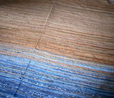 Extra Large Handwoven  vintage look rag rug -6 ' x 10' custom colour, MADE TO ORDER by Gunaspalete on Etsy