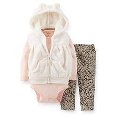 Carter's Baby Girls 3-Piece Vleboa Vest, Bodysuit & Pant Set (24 Months, Light Pink/Cheetah Print) Carter's http://www.amazon.com/dp/B00N70MIF0/ref=cm_sw_r_pi_dp_B5WQub007H1WE
