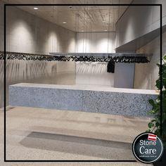 Stilgerechtes Design mit Betonelementen. Perfekt auspoliert. Stone Care verwendet www.stone-finish.com Steinpflegeprodukte Design, Stones
