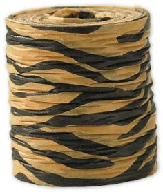 "Crinkle Paper Tiger Ribbon, 1 1/2 This eco-friendly ribbon is not only beautiful, it's non-toxic and uses water-soluble dyes.  • 1 1/2"" x 25 Yds  • 1 roll of ribbon  • Paper supplied from a managed forest  • A sample is available for this product. Please contact customer service if you would like to order a sample"