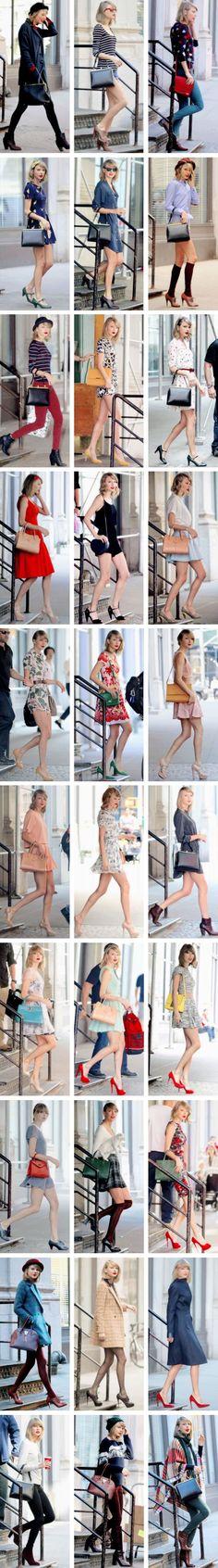 A Taylor Swift fashion collage ♥♥♥♥♥ she looks perfect anywhere Taylor Swift Moda, Estilo Taylor Swift, Taylor Swift Outfits, Taylor Swift Style, Taylor Alison Swift, Look Fashion, Trendy Fashion, Dress Fashion, Fashion Clothes