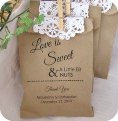Personalized Wedding Peanut Bags (Set of 10) BUFFET-031P