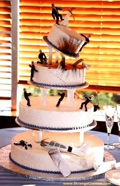 If the only time the word 'disaster' features in your wedding is to describe the theme of the cake, we say that's a good thing.