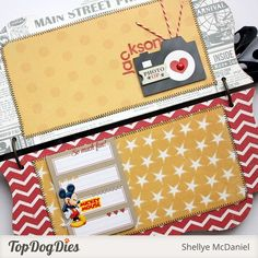 Mickey Mouse Mini Album by Shellye McDaniel for Top Dog Dies Disney Diy, Disney Crafts, Disney Ideas, Scrapbook Expo, Disney Scrapbook, Scrapbooking, Mini Photo Albums, Mini Albums, Special Birthday
