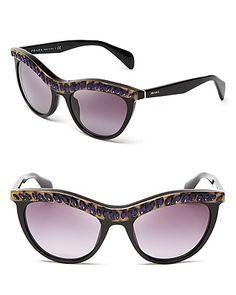Prada Jeweled Cat Eye Sunglasses   Bloomingdale's