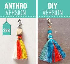 Keep on top of your keys with this cool keychain. | 26 Impossibly Cool Anthropologie Knockoffs You're Gonna Want To Make Right Now