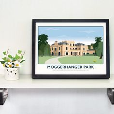 Moggerhanger House & Park, Bedfordshire Print by Tabitha Mary.   £16.00–£105.00  Moggerhanger Park is a Grade 1 listed Georgian Historic House set in 33 acres of parkland and woodland. It is recognised as the most complete surviving example of Soane's work set in stylish grounds and woodlands sculpted by Humphry Repton.  Do you know a Bride and Groom who were married at Moggerhanger? Have this print personalised with their wedding date as a special gift for them.