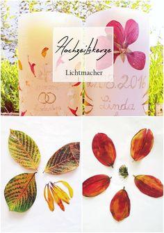 Zum Dahinschmelzen. Eine blütenreiche Hochzeitskerze. #wedding #Hochzeit #Kerze #Licht #Blüten #pressen #diy #selbermachen