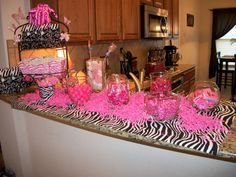 Candy bar my Mom & I did @ my house for my baby shower for Kayleigh :)