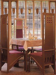 Charles Rennie Mackintosh (1868-1928) & Margaret Macdonald Mackintosh (1865-1933) - The Willow Tea Rooms. Glasgow, Scotland. Circa 1904.