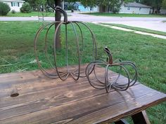 Hey, I found this really awesome Etsy listing at https://www.etsy.com/listing/204434684/pumpkin-made-out-of-rebar