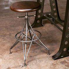 Our new Rebar stool... #vintageindustrial #interiordesign #interiordesigner #furnituredesign #modern #luxuryhome #homedesign #furnitureporn #designporn #interiors #interior #diningtable #hoteldesign #architects #architecture #contractfurniture #industrialchic #loft #seating #stool