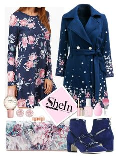 """Floral dress"" by na-pan on Polyvore featuring Mode, Ted Baker, Rayne, Topshop, Essie, beautyblender und Guerlain"
