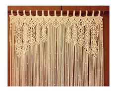 Macrame Curtain Large macrame Macrame fiber by mislanascreativas