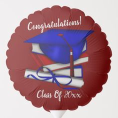 Shop Reversible Black & Red Cap & Diploma Balloon created by BlueRose_Design. Helium Gas, Raffle Prizes, Custom Balloons, Party Napkins, School Colors, Vinyl Lettering, Purple Yellow, Party Printables, Wedding Favors