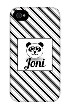 Come shop this Panda Personalized iPhone 4 Tough Case at http://www.putacaseon.me/products/panda-personalized-iphone-4-tough-case . Using our custom case tool you can design your case exactly how you want it.