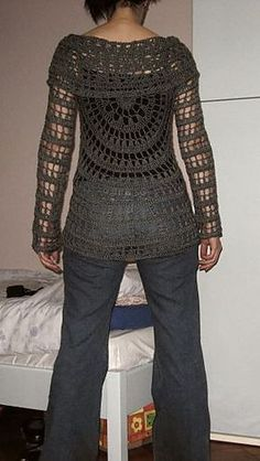 Circular Crochet Jacket Free Pattern