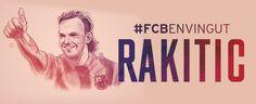 Ya está aquí. Ivan Rakitic #FCBenvingut Ivan Rakitic, Lema, Fc Barcelona, Cover, Books, Movie Posters, Club, Libros, Book