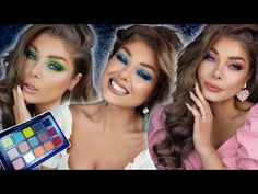Kaleidos x Angelica Nyqvist | Club Nebula 1 Palette 3 Looks - YouTube Indie Makeup, Thing 1, Spring Makeup, Dupes, Palette, Coral, Skin Care, Club, Youtube