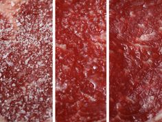<p>This article is an in depth conversation about when and how to salt your steak.  To keep things simple, I like to salt mine on both sides a few minutes before throwing it on the grill.  This helps create a clean, hard sear - which is a delicious crust on the outside of the steak.</p>