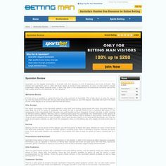 Sportsbet are offering all Betting Man visitors a $250 Free Bet. Redeem this offer exclusively here.