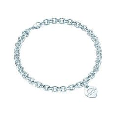 Return to Tiffany® heart tag necklace in sterling silver. Best present to ever receive! Love the thought of monogramming the back with initials! Awwwww