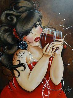 DPF diamond embroidery Drink red wine woman diamond painting cross stitch crafts diamond mosaic kit rhinestone home decor DIY Princesa Pin Up, Plus Size Art, Creation Photo, Fat Art, Dibujos Cute, Wine Art, Isabelle, 5d Diamond Painting, In Vino Veritas