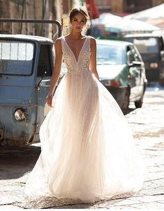 Свадебное платье в стиле бохо кружевное Bailey Berta Bridal салон ЖениховНет