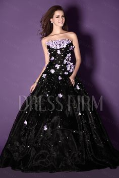 New Style Ball Gown Strapless Floor-length Sandra's Ball Gown Prom Dress