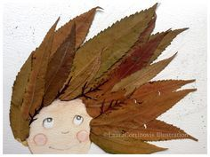 icoloridilaura: So erstellen Sie Illustrationen mit Blättern … Herbst-Tutorial icoloridilaura: How to create illustrations with leaves … Autumn tutorial Autumn Crafts, Autumn Art, Nature Crafts, Autumn Leaves, Projects For Kids, Diy For Kids, Art Projects, Preschool Crafts, Crafts For Kids