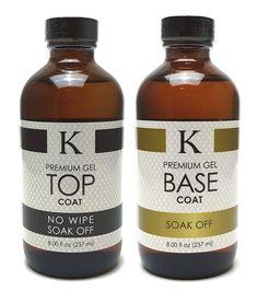 K Premium Gel TOP & BASE Coats Set of 2