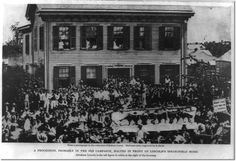 The Lincoln Home after 1858 Republican Rally. Springfield, Illinois