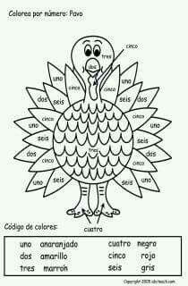 Printable Spanish FREEBIE of the Day: Numbers Crossword
