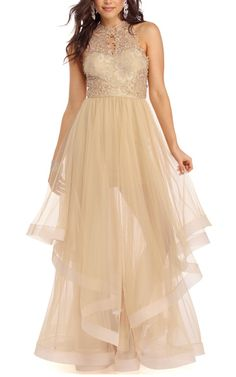 Rylie Gold My Moment Dress via @bestchicfashion