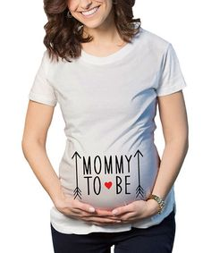 White 'Mommy To Be' Maternity Tee #zulily #zulilyfinds