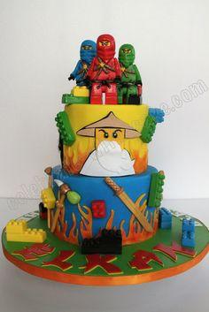 Lego ninja go cake Lego Ninjago Cake, Ninjago Party, Lego Cake, 6th Birthday Cakes, Ninja Birthday, Bolo Lego, Ninja Cake, Lemon And Coconut Cake, Movie Cakes