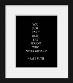 Babe Ruth, Baseball, quote, sports, baseball decor,  typography print, typography, decor, motivational, living room, poster, quote art print on Etsy, $12.00
