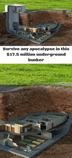Survive any apocalypse in this $17.5 million underground bunker