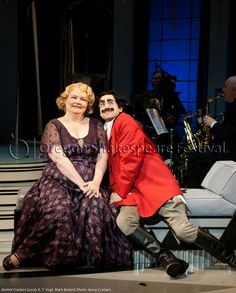 Oregon Shakespeare Festival. ANIMAL CRACKERS (2012): K. T. Vogt and Mark Bedard. Photo: Jenny Graham.