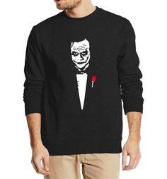 #BestPrice #Fashion Joker Heath Ledger Why So Serious Hip Hop Men's Sweatshirt 2017 Autumn Punk Batman Sweatshirts Hoodies Men Loose Fit…